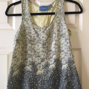 Simply Vera Wang Yellow & Grey Sleeveless Blouse